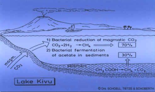 Modèle de formation du méthane dans le Lac Kivu
